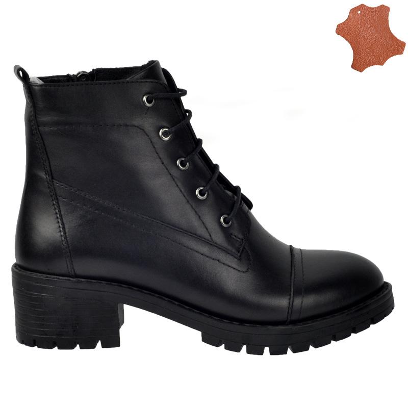 fotografii oficiale fara taxa de vanzare pantofi autentici Ghete dama BUBULINA negru